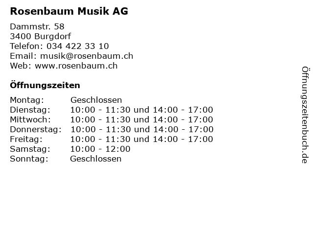 Rosenbaum Musik AG in Burgdorf: Adresse und Öffnungszeiten
