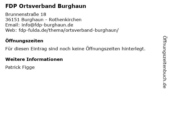 FDP Ortsverband Burghaun in Burghaun - Rothenkirchen: Adresse und Öffnungszeiten