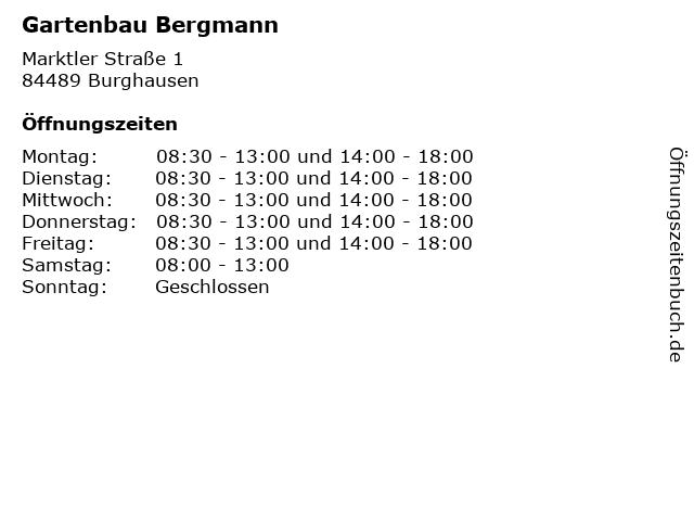 Gartenbau Bergmann in Burghausen: Adresse und Öffnungszeiten