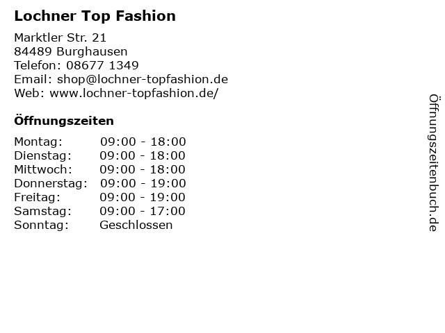 Lochner Top Fashion in Burghausen: Adresse und Öffnungszeiten