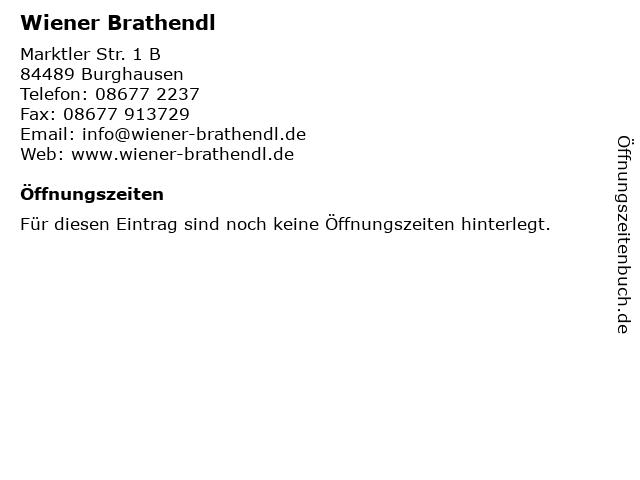 Wiener Brathendl in Burghausen: Adresse und Öffnungszeiten