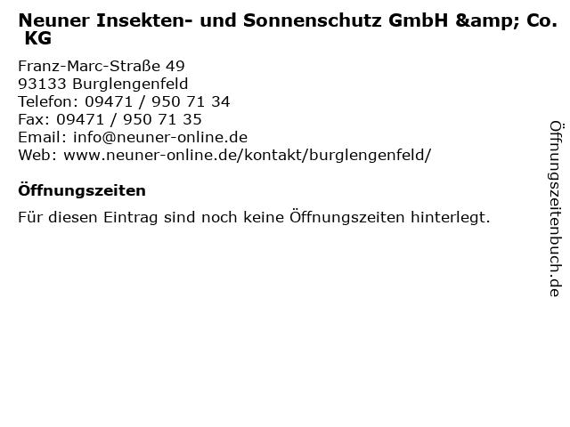 Neuner Insekten- und Sonnenschutz GmbH & Co. KG in Burglengenfeld: Adresse und Öffnungszeiten