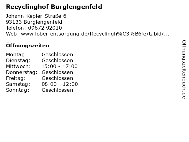 Recyclinghof Burglengenfeld