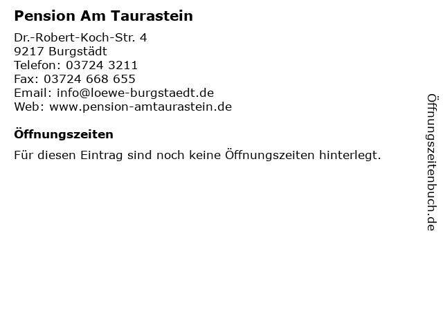 Pension Am Taurastein in Burgstädt: Adresse und Öffnungszeiten