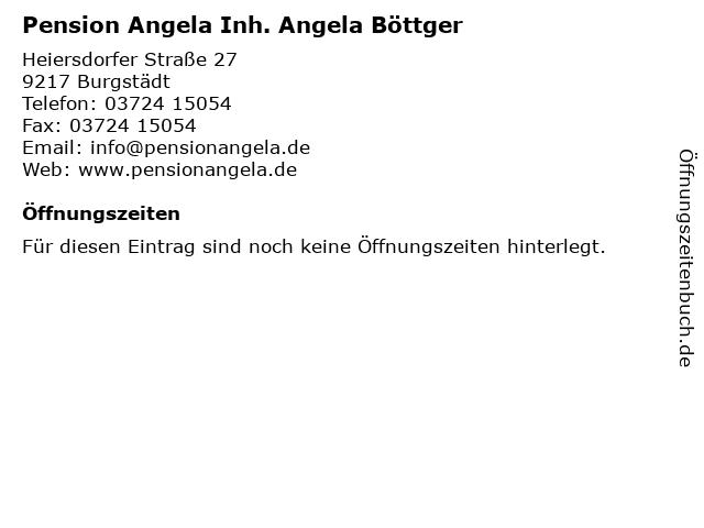 Pension Angela Inh. Angela Böttger in Burgstädt: Adresse und Öffnungszeiten