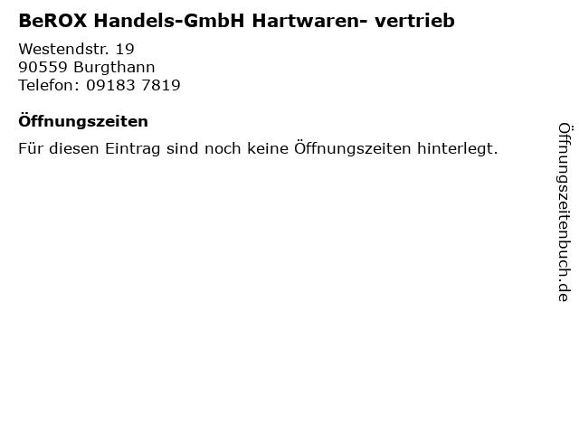 BeROX Handels-GmbH Hartwaren- vertrieb in Burgthann: Adresse und Öffnungszeiten