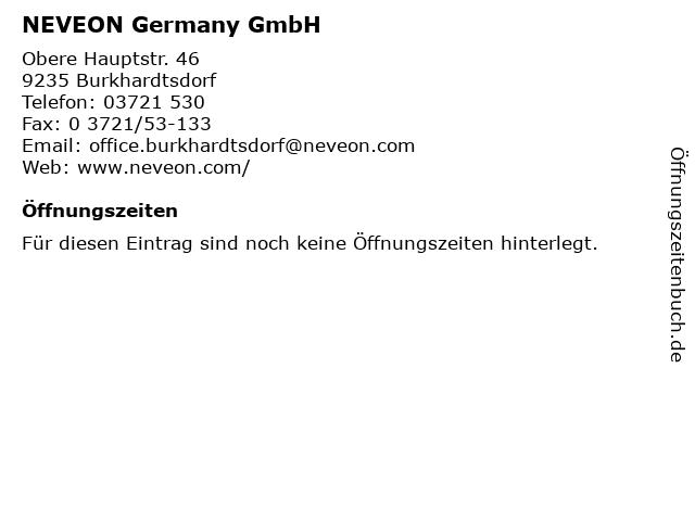Eurofoam Deutschland GmbH Werk Sachsen in Burkhardtsdorf: Adresse und Öffnungszeiten