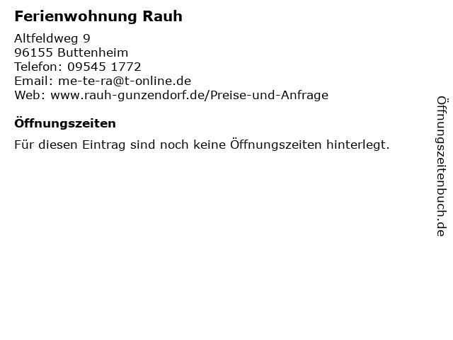 Ferienwohnung Rauh in Buttenheim: Adresse und Öffnungszeiten