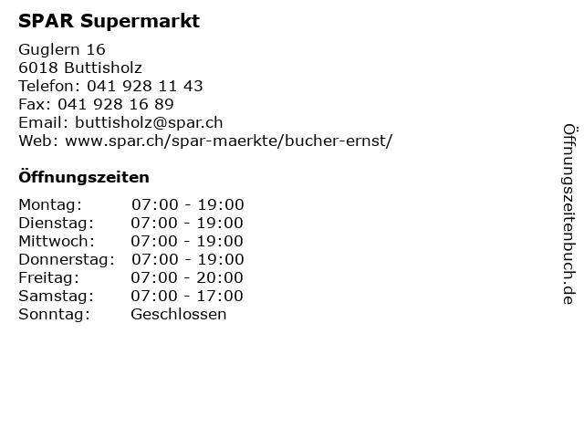 SPAR Supermarkt in Buttisholz: Adresse und Öffnungszeiten