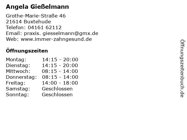 Angela Gießelmann in Buxtehude: Adresse und Öffnungszeiten