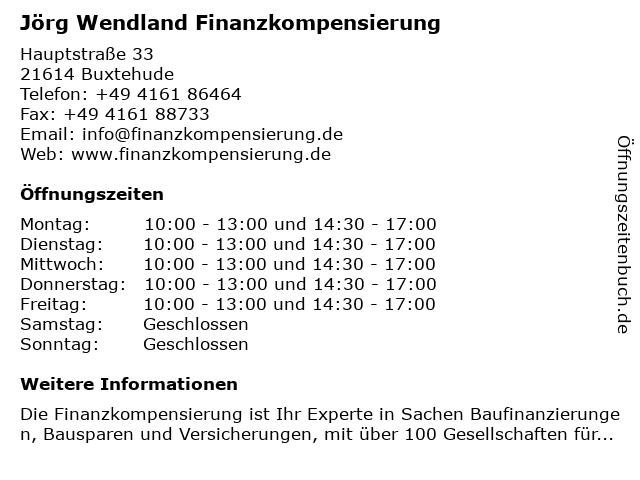 Jörg Wendland Finanzkompensierung in Buxtehude: Adresse und Öffnungszeiten