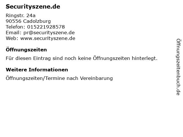 Securityszene.de in Cadolzburg: Adresse und Öffnungszeiten