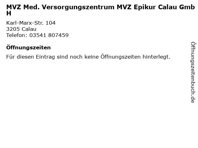 MVZ Med. Versorgungszentrum MVZ Epikur Calau GmbH in Calau: Adresse und Öffnungszeiten