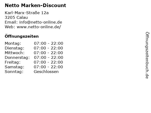 Netto Marken-Discount in Calau: Adresse und Öffnungszeiten
