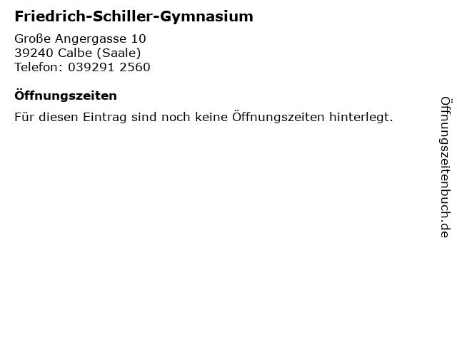 ᐅ öffnungszeiten Friedrich Schiller Gymnasium Große Angergasse 10