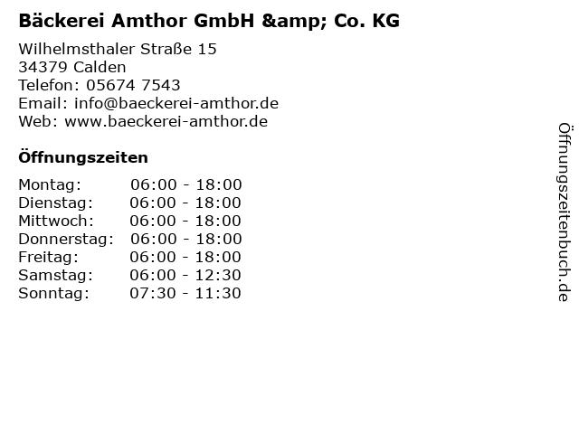 Bäckerei Amthor GmbH & Co. KG in Calden: Adresse und Öffnungszeiten