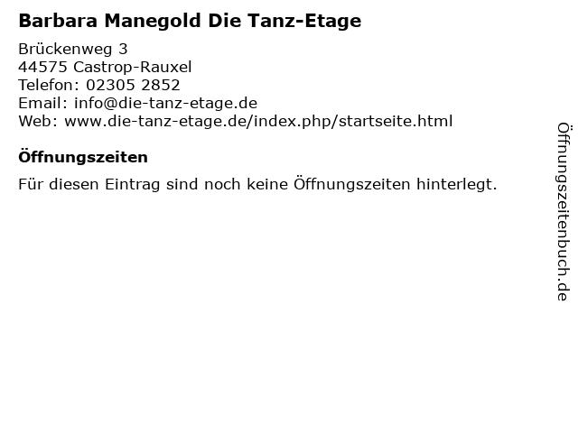 Barbara Manegold Die Tanz-Etage in Castrop-Rauxel: Adresse und Öffnungszeiten