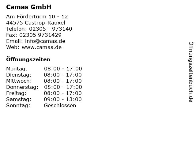Camas GmbH in Castrop-Rauxel: Adresse und Öffnungszeiten