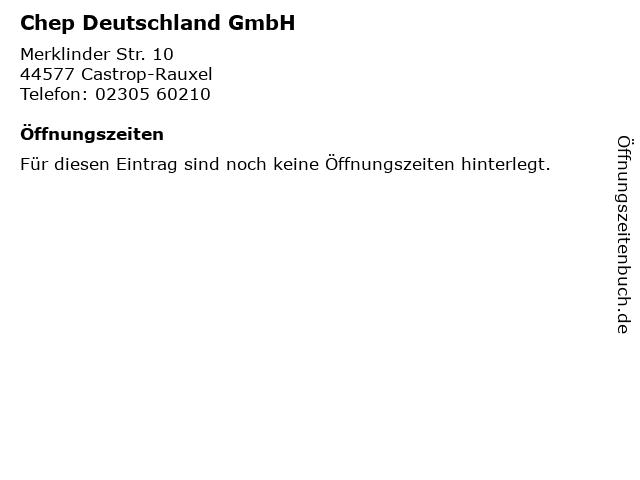 Chep Deutschland GmbH in Castrop-Rauxel: Adresse und Öffnungszeiten