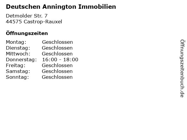 Deutschen Annington Immobilien in Castrop-Rauxel: Adresse und Öffnungszeiten