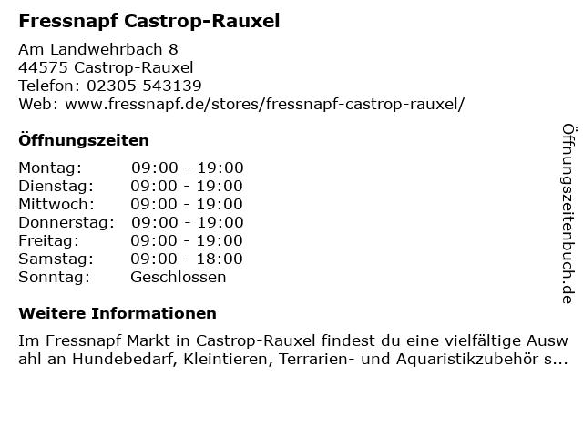 Fressnapf Castrop-Rauxel in Castrop-Rauxel: Adresse und Öffnungszeiten
