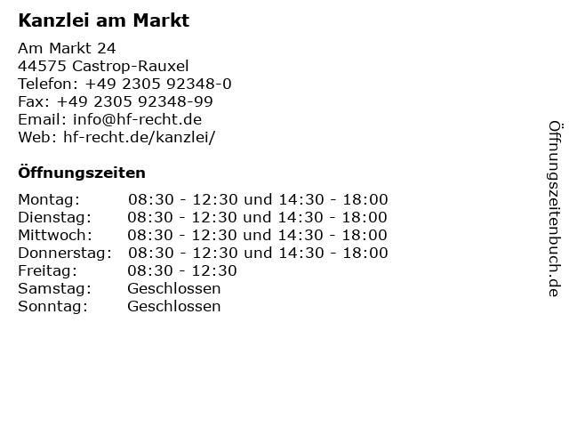 Kanzlei am Markt in Castrop-Rauxel: Adresse und Öffnungszeiten