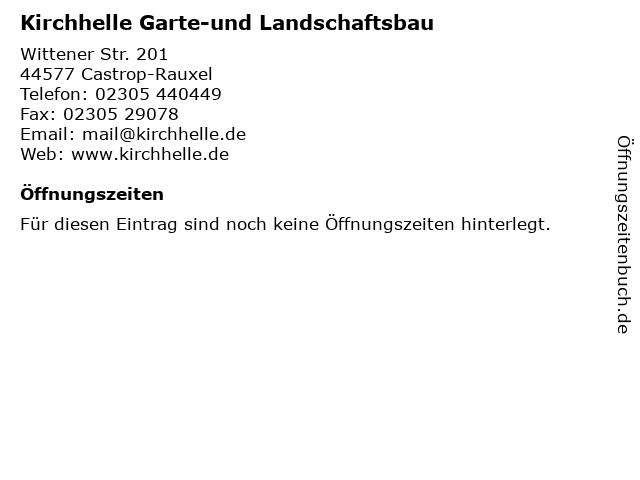 Kirchhelle Garte-und Landschaftsbau in Castrop-Rauxel: Adresse und Öffnungszeiten