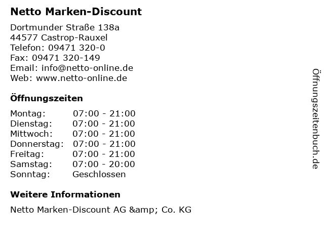 Netto Marken-Discount in Castrop-Rauxel: Adresse und Öffnungszeiten