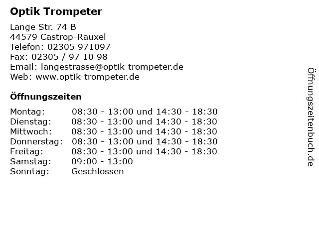 Optik Trompeter, Norbert Ernst in Castrop-Rauxel: Adresse und Öffnungszeiten