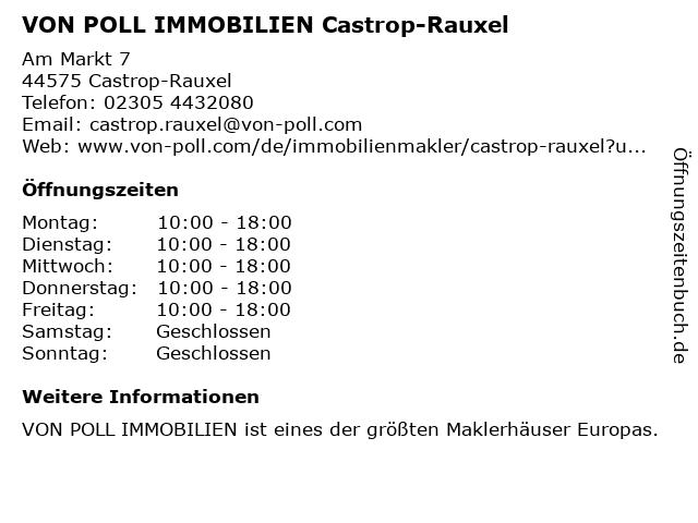VON POLL IMMOBILIEN Castrop-Rauxel in Castrop-Rauxel: Adresse und Öffnungszeiten