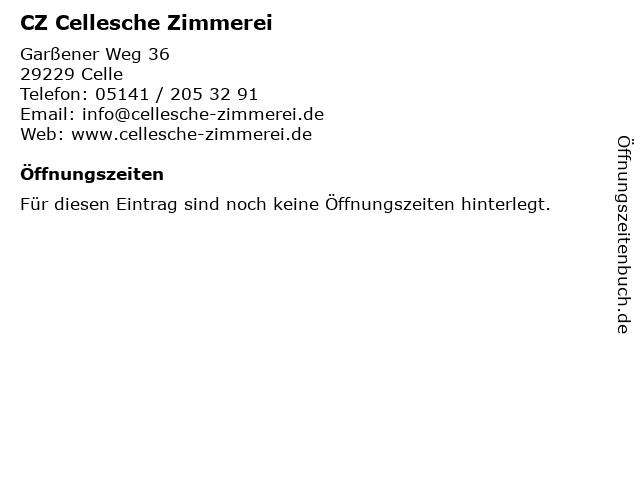 CZ Cellesche Zimmerei in Celle: Adresse und Öffnungszeiten