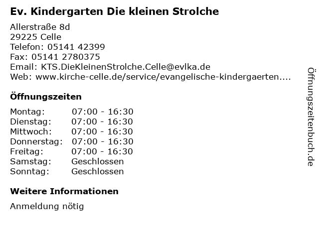 Ev. Kindergarten Die kleinen Strolche in Celle: Adresse und Öffnungszeiten
