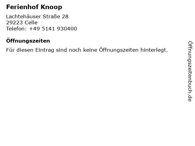 Ferienhof Knoop in Celle: Adresse und Öffnungszeiten