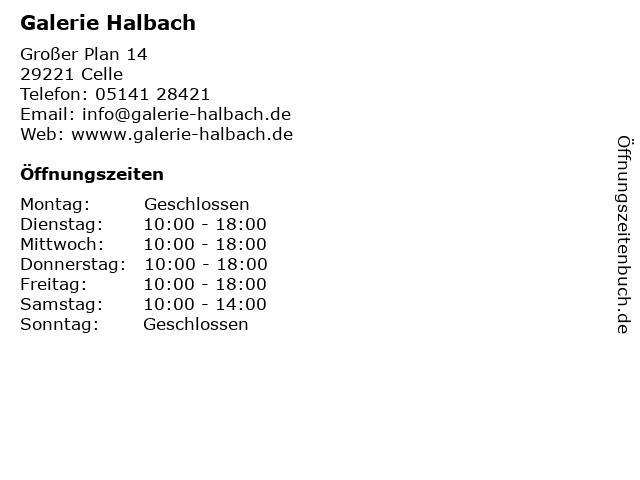 Galerie Halbach in Celle: Adresse und Öffnungszeiten