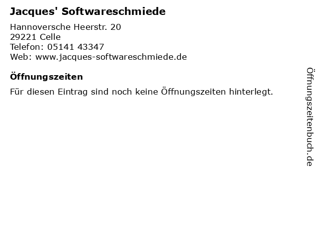 Jacques' Softwareschmiede in Celle: Adresse und Öffnungszeiten