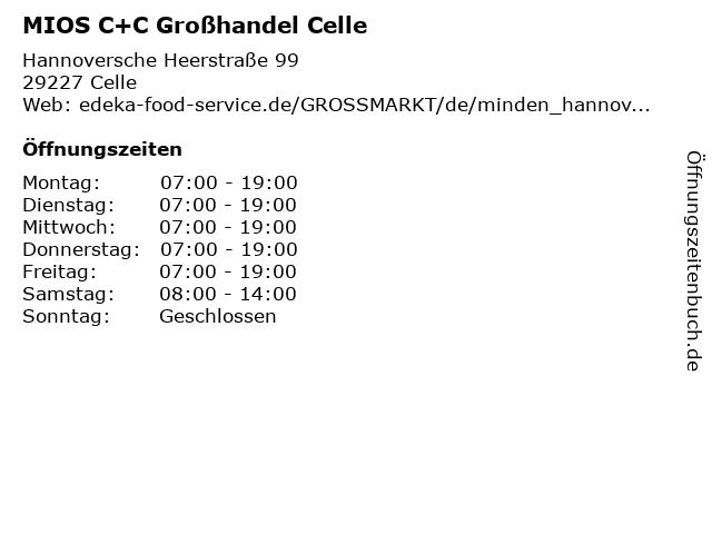 MIOS C+C Großhandel Celle in Celle: Adresse und Öffnungszeiten
