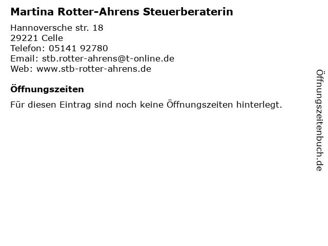 Martina Rotter-Ahrens Steuerberaterin in Celle: Adresse und Öffnungszeiten