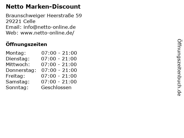 Netto Marken-Discount in Celle: Adresse und Öffnungszeiten