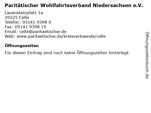 Paritätischer Wohlfahrtsverband Niedersachsen e.V. in Celle: Adresse und Öffnungszeiten