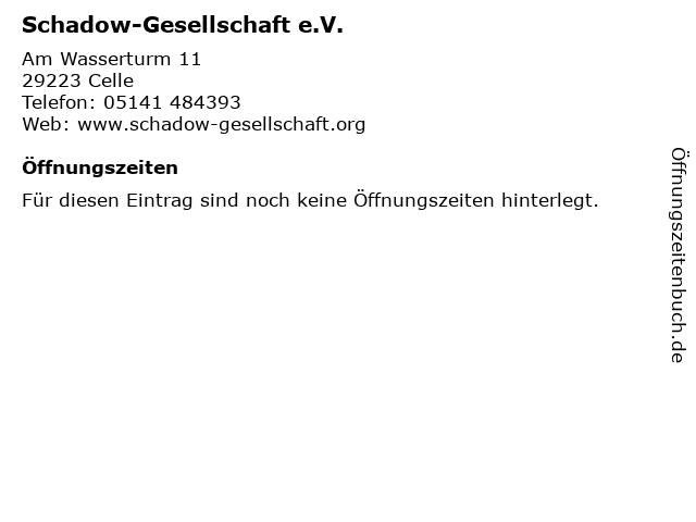 Schadow-Gesellschaft e.V. in Celle: Adresse und Öffnungszeiten