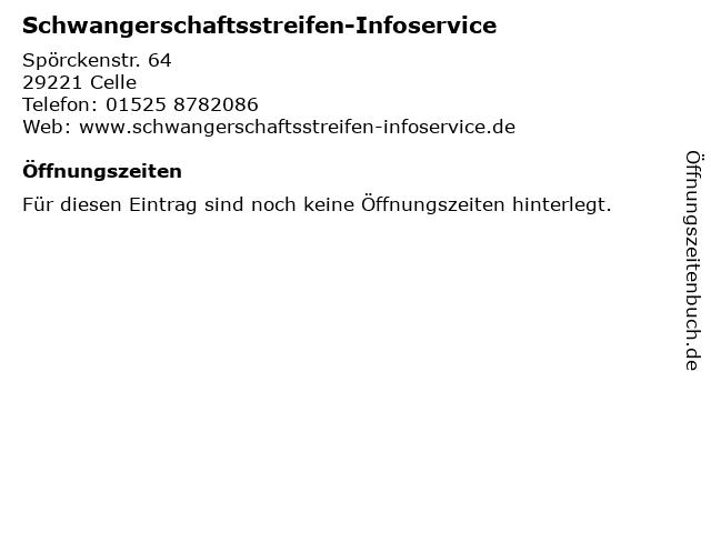 Schwangerschaftsstreifen-Infoservice in Celle: Adresse und Öffnungszeiten