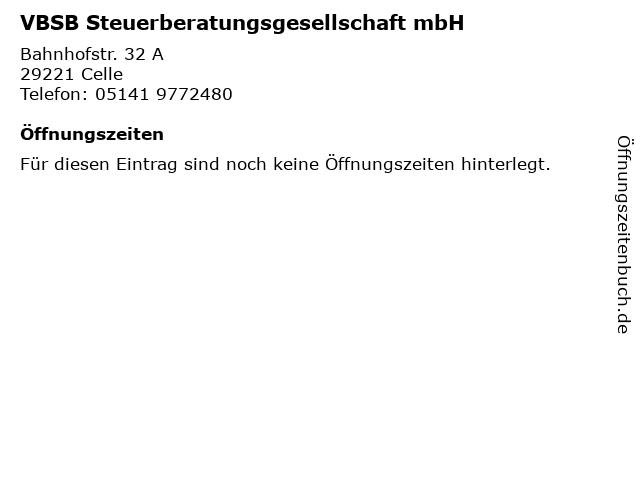VBSB Steuerberatungsgesellschaft mbH in Celle: Adresse und Öffnungszeiten