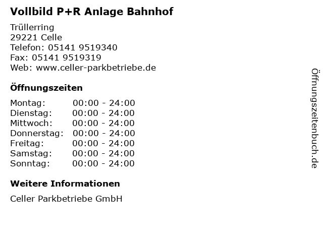 Vollbild P+R Anlage Bahnhof in Celle: Adresse und Öffnungszeiten