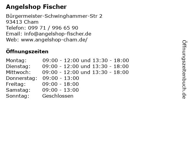 Angelshop Fischer in Cham: Adresse und Öffnungszeiten
