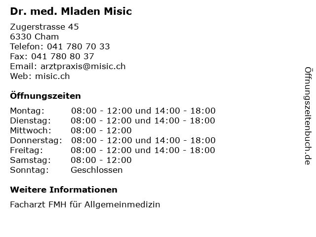 La Cham öffnungszeiten
