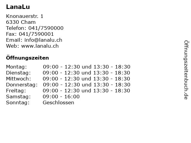 LanaLu in Cham: Adresse und Öffnungszeiten