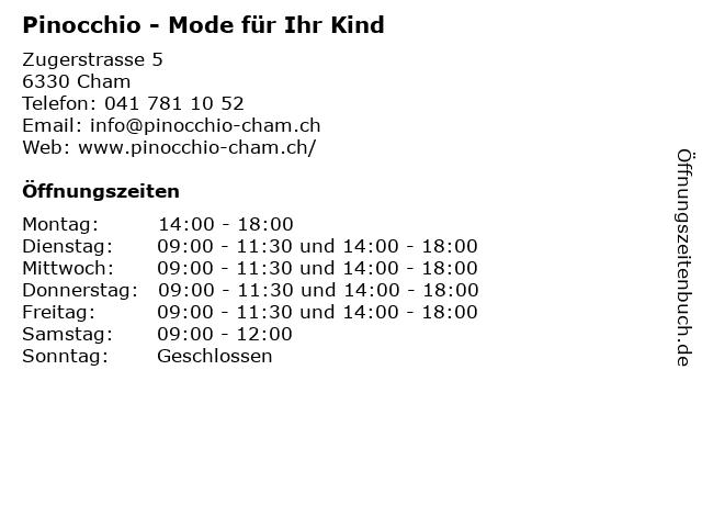 Pinocchio - Mode für Ihr Kind in Cham: Adresse und Öffnungszeiten