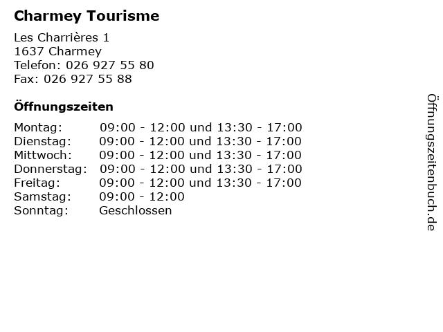Charmey Tourisme in Charmey: Adresse und Öffnungszeiten