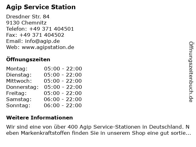 AGIP Service Station in Chemnitz: Adresse und Öffnungszeiten