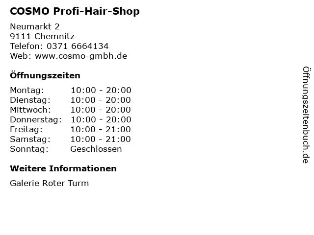 COSMO Profi-Hair-Shop in Chemnitz: Adresse und Öffnungszeiten